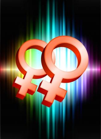 lesbian: Symboles genre lesbien sur le spectre Illustration originale R�sum� Contexte