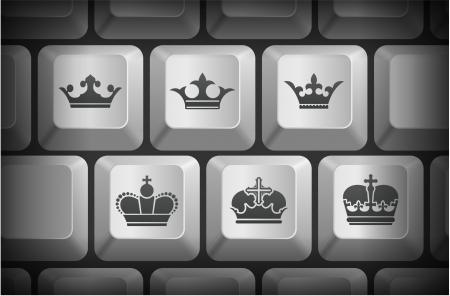 컴퓨터 키보드 버튼 왕관 아이콘 원래 그림