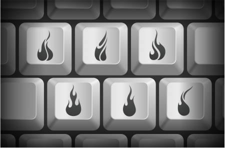 컴퓨터 키보드 단추 화재 아이콘 원래 그림 일러스트