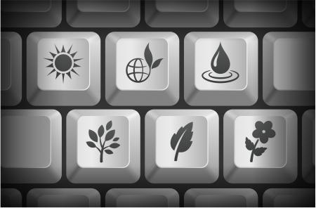 컴퓨터 키보드 버튼 생태 아이콘 원래 그림