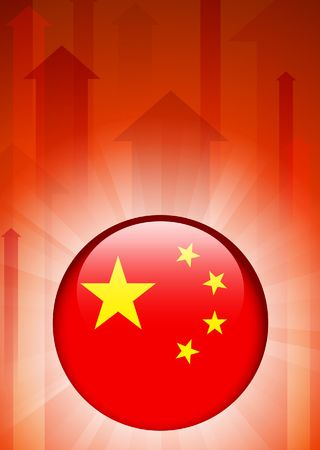 China Flag Icon on Internet Button