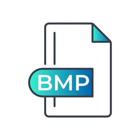 BMP File Format Icon. Bitmap image file extension gradiant icon. Illustration