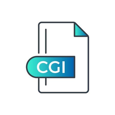 CGI File Format Icon. CGI extension gradiant icon. Illustration