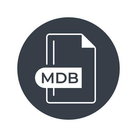 MDB File Format Icon. MDB extension filled icon.