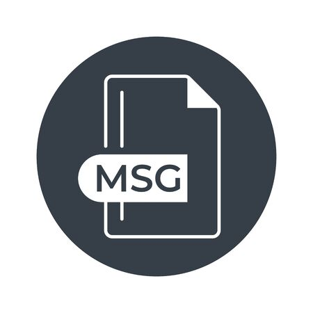 MSG File Format Icon. MSG extension filled icon.  イラスト・ベクター素材