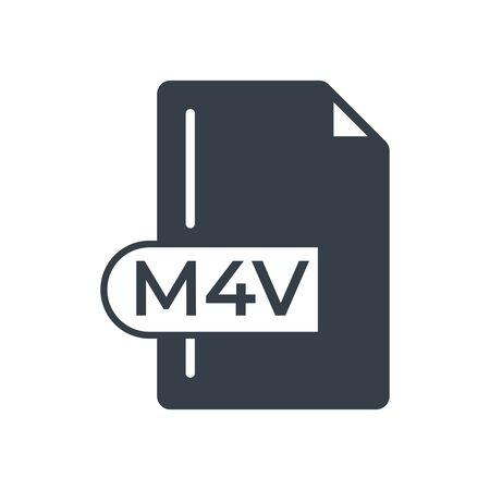 M4V File Format Icon. M4V extension filled icon.
