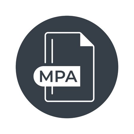 MPA File Format Icon. MPA extension filled icon.