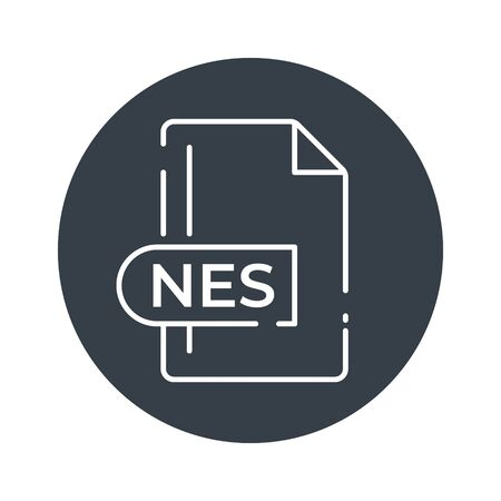 NES File Format Icon. NES extension filled icon.