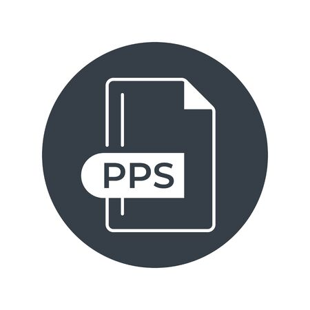 PPS File Format Icon. PPS extension filled icon. Foto de archivo - 150467309