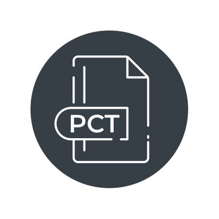 PCT File Format Icon. PCT extension filled icon.