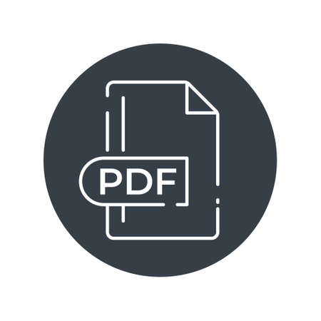 PDF File Format Icon. PDF extension filled icon.