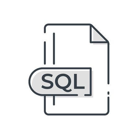 SQL File Format Icon. SQL extension line icon. Foto de archivo - 150467591