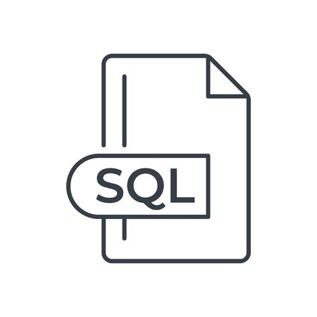 SQL File Format Icon. SQL extension line icon. Foto de archivo - 150467602