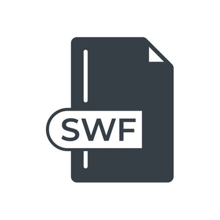 SWF File Format Icon. SWF extension filled icon.