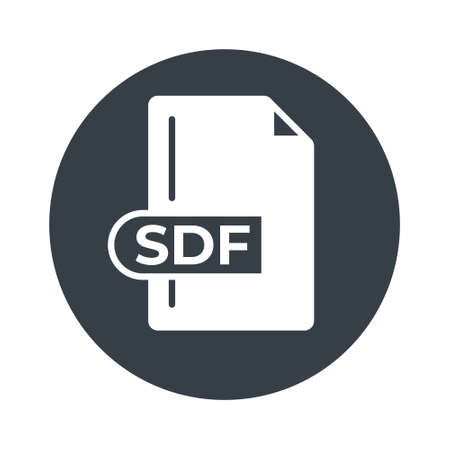 SDF File Format Icon. SDF extension filled icon.