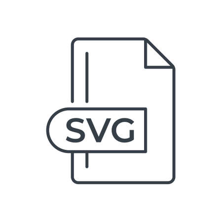 SVG File Format Icon. SVG extension line icon.