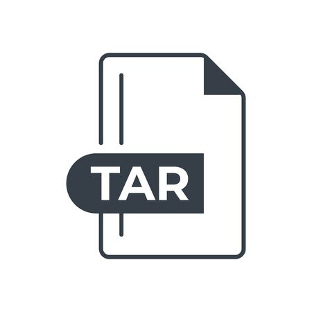 TAR File Format Icon. TAR extension filled icon.