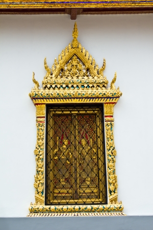 Beautiful Thai temple Window Stock Photo