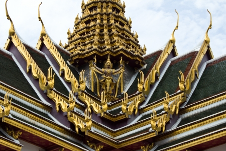 Close Up Garuda on the roof of a Thai temple