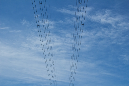 The sky with power lines