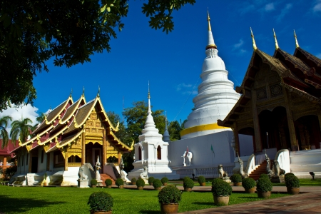 Wat Phra Singh Woramahaviharn is Thai temple in chiangmai, Thailand photo