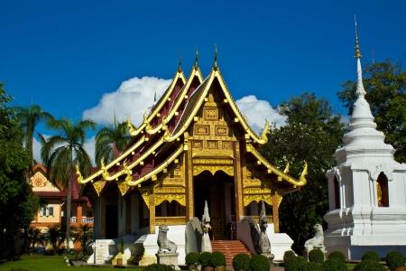 Wat Phra Singh Woramahaviharn is Thai temple in chiangmai, Thailand Stock Photo - 15094057
