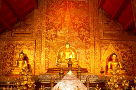 Detail of the temple Wat Phra Singh in Chiang Mai