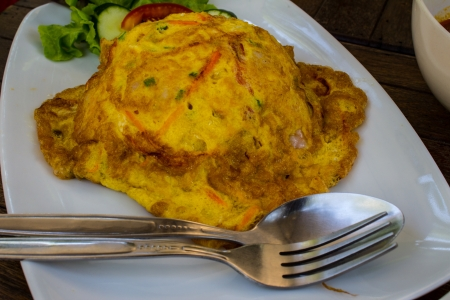 Omurice, omelette rice Stock Photo