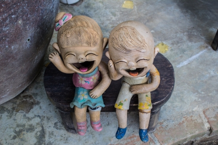 Clay doll boy and girl