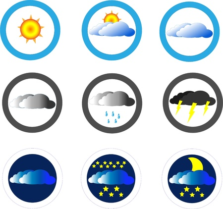 Weather icons set Stock Vector - 17375293