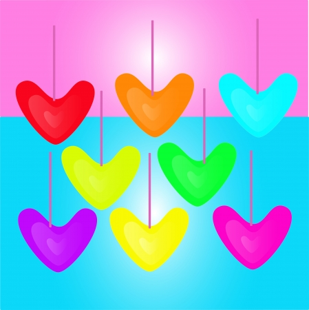 Colorful heart Stock Vector - 17419843