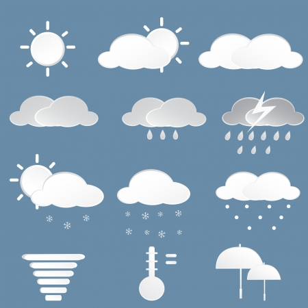 Weather iCons , Vector Cartoon Illustration