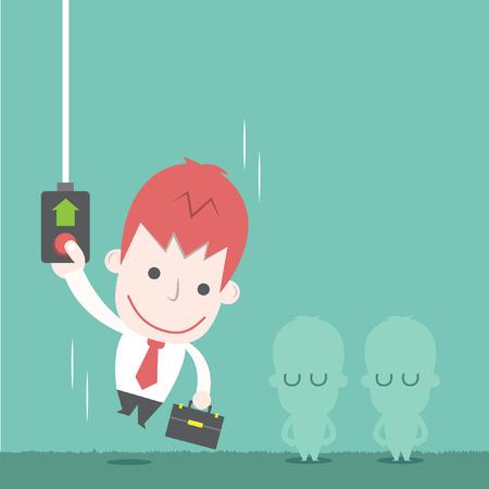 Businessman be promoted,Vector cartoon Illustration