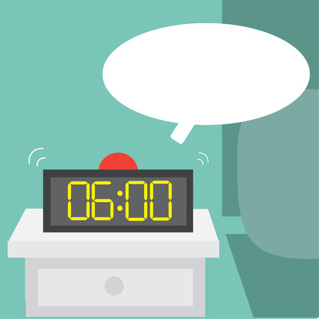 Wake up early,Vector cartoon business Vector