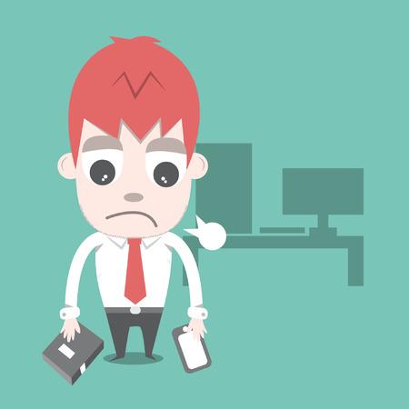 overtime: Work hard and overtime  Illustration