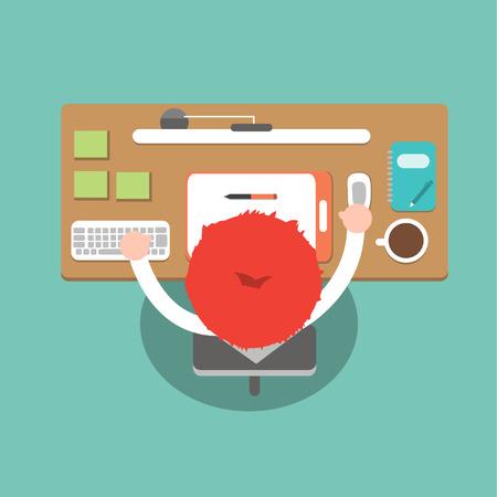 Office, Vector cartoon business