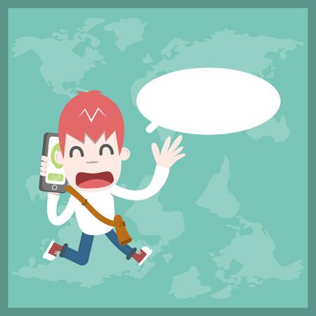 International call, Vector cartoon business