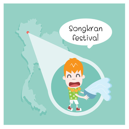 chiangmai: Songkran festival Illustration