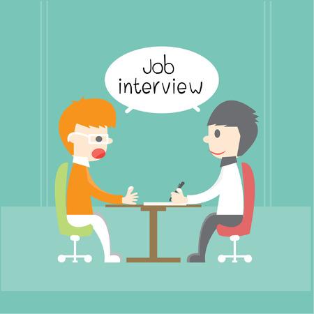 job interview: Job interview, Vector cartoon business