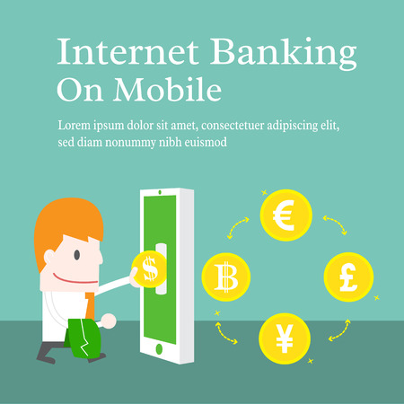 Internet banking on mobile Vector