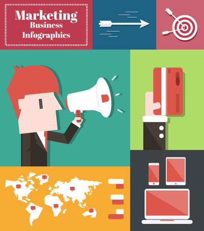 Marketing Business,Vector Infographic Elements Vector