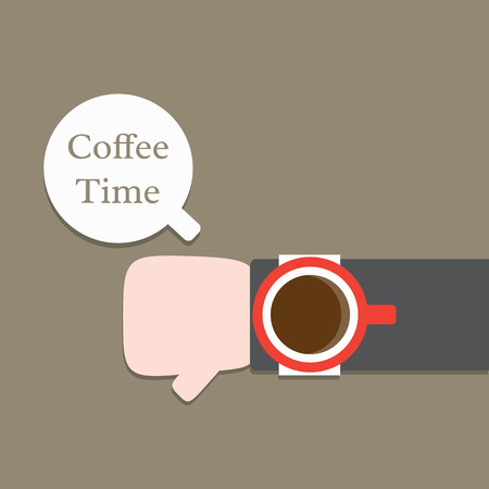 Coffee Time,Vector cartoon business Vector