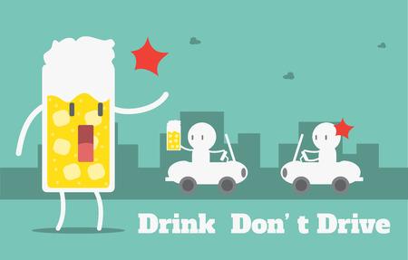 Drink do not drive,Vector cartoon business