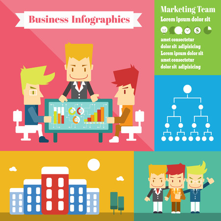 Marketing Team ,Vector Infographic Elements