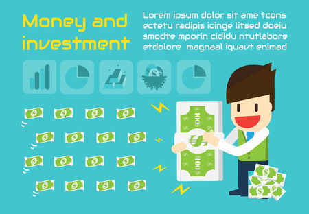 Money and investment ,Vector Infographic Elements Vector