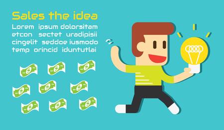 Sales the idea ,Vector cartoon business