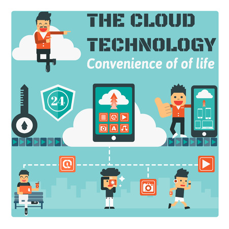 The Cloud Technology,Vector Infographic Elements Illustration