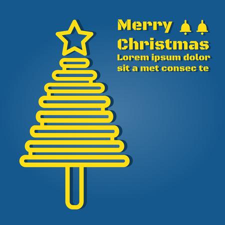 A Christmas tree light yellow cartoon business