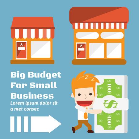 Budget for Business cartoon business