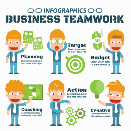 Business Teamwork Infographic Elements Illustration